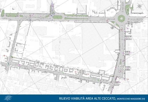 Rilievo viabilità Area Alte Ceccato, Montecchio Maggiore
