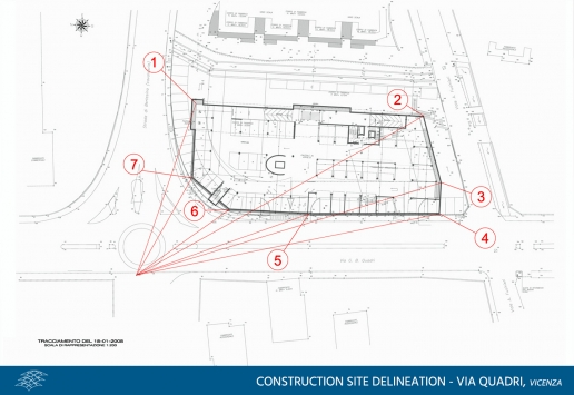 Construction site delineation via quadri Vicenza