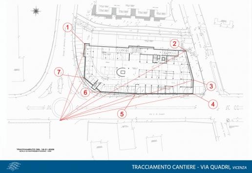 tracciamento cantiere via Quadri Vicenza