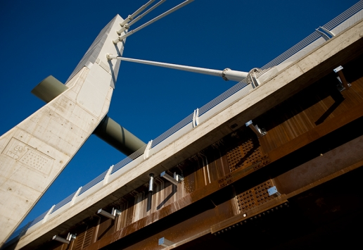 Cable-stayed bridge A31 Highway image 01