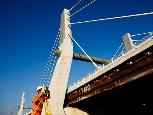 Cable-stayed bridge A31 Highway image 07