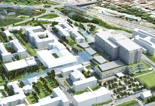 Progetto: Clinical Center | Belgrado, Serbia - padiglioni ospedalieri