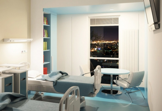 Project: Clinical Center | Belgrade, Serbia - interior design, typical room