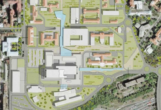 Progetto: Clinical Center | Belgrado, Serbia - masterplan